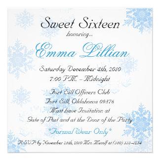sweet sixteen birthday party invite winter chic