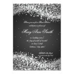 Sweet Sixteen Birthday Party Sparkling Wave Black Personalized Invites