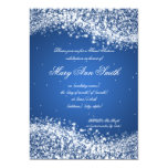 Sweet Sixteen Birthday Party Sparkling Wave Blue 5x7 Paper Invitation Card