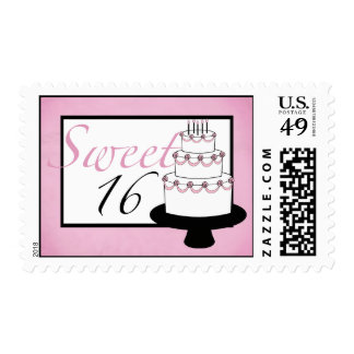Sweet Sixteen Birthday Postage Stamps