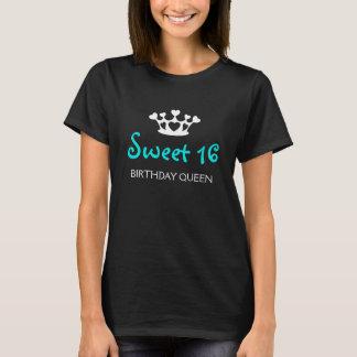 Sweet Sixteen Birthday Queen - Teal T-Shirt