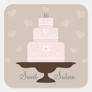 """Sweet Sixteen"" Birthday Stickers"