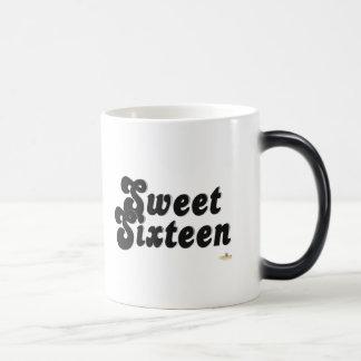 Sweet Sixteen Black And Silver 11 Oz Magic Heat Color-Changing Coffee Mug