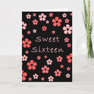 Sweet Sixteen card. Design ©2007, H. Moyer