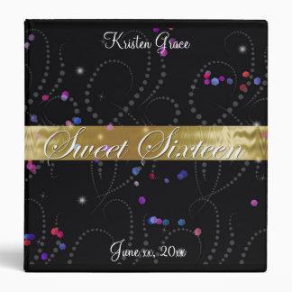 Sweet Sixteen, Confetti, Custom Photo Album Binder