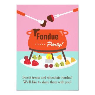 Sweet Sixteen Fondue Birthday Party Invitations