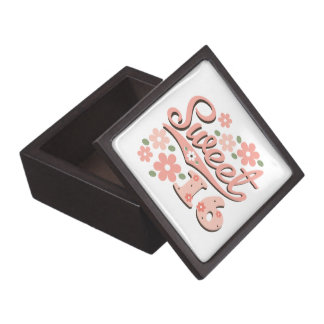 Sweet Sixteen Gift Box Premium Jewelry Box