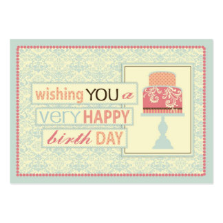 Sweet Sixteen Gift Tag Large Business Card