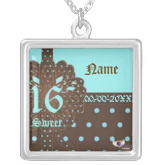 Sweet Sixteen Gifted Necklace Charm -Customize necklace