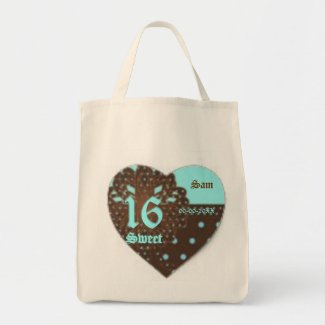 Sweet Sixteen Gifted Tote Bag -Customize bag