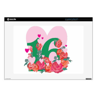 """Sweet Sixteen, Happy Birthday Decal For 15"""" Laptop"""