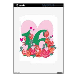 Sweet Sixteen, Happy Birthday Decals For iPad 2