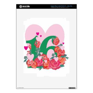 Sweet Sixteen, Happy Birthday iPad 3 Skin