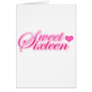 Sweet Sixteen Heart Card