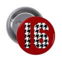Sweet Sixteen Houndstooth Print Buttons