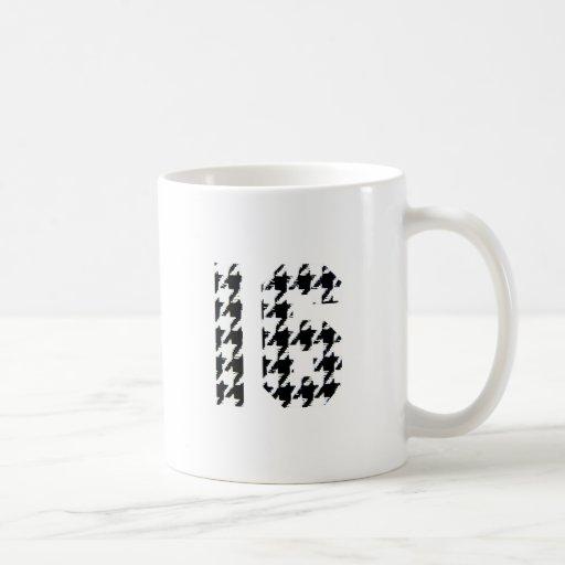 Sweet Sixteen Houndstooth Print Classic White Coffee Mug