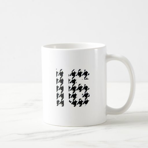 Sweet Sixteen Houndstooth Print Mugs