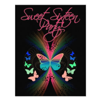 Sweet Sixteen Personalized Invitations