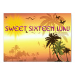 """Sweet Sixteen Invitation Hawaiian Luau 5"""" X 7"""" Invitation Card"""