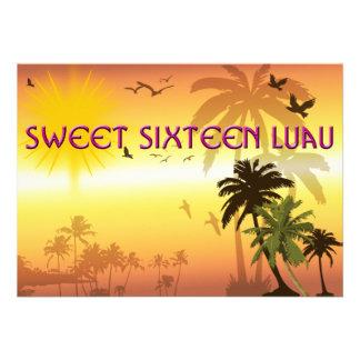 Sweet Sixteen Invitation Hawaiian Luau Invitation