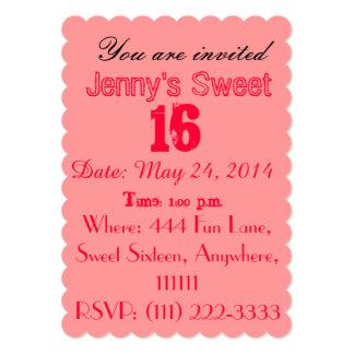 Sweet Sixteen Invitations - Pretty Pink