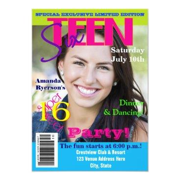 Sweet Sixteen | Magazine Cover Style | Photo Card