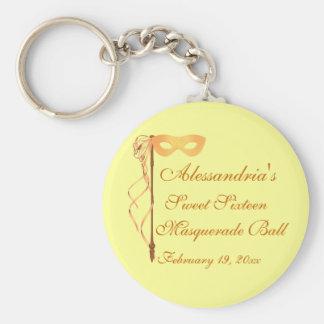 """Sweet Sixteen Masquerade Ball"" (Mask 1) Basic Round Button Keychain"
