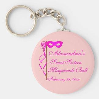 """Sweet Sixteen Masquerade Ball"" (Mask 1) Keychain"