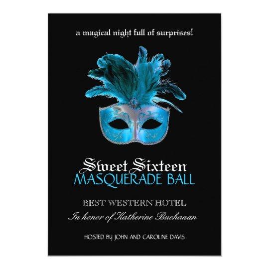 Sweet Sixteen Masquerade Invitation