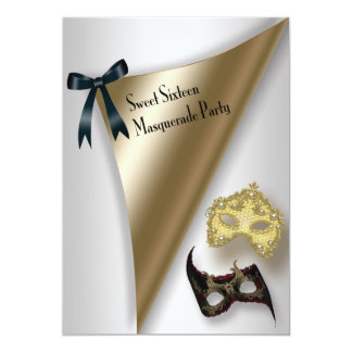 Sweet Sixteen Masquerade Party Card