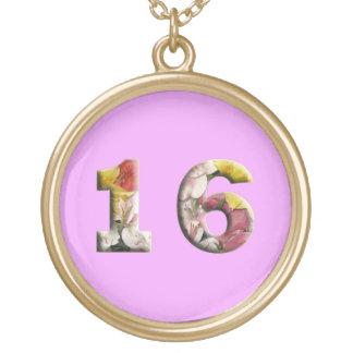 Sweet Sixteen Milestone Birthday Necklace