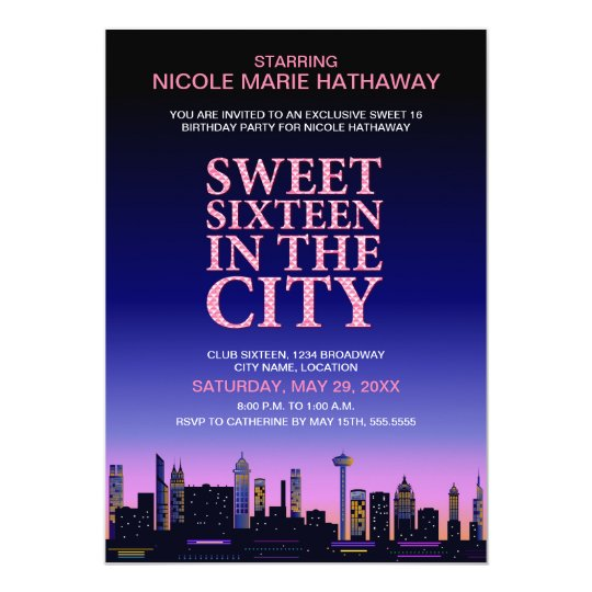 sweet sixteen movie poster party invitation zazzlecom