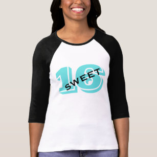 Sweet Sixteen Party 16th Birthday Retro Turquoise T Shirt