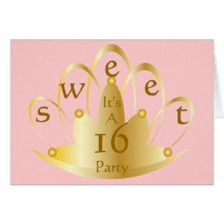 Sweet Sixteen Party-Customize Cards