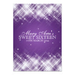 Sweet Sixteen Party Glamorous Sparks Purple 5x7 Paper Invitation Card