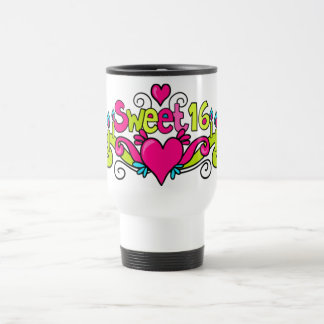 sweet sixteen party glass mug