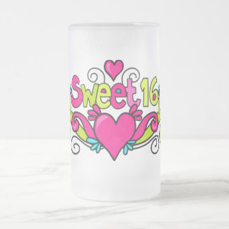 sweet sixteen party glass mug
