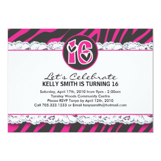 Sweet Sixteen Party Invitation