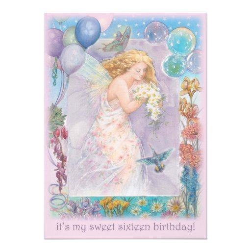 SWEET SIXTEEN PARTY INVITATION BUTTERFLY