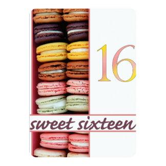 Sweet Sixteen Party Invitation macaron