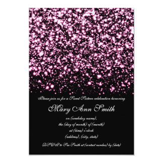 Sweet Sixteen Party Midnight Glam Pink Card