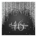 Sweet Sixteen Party Night Dazzle Black Invitation