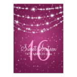 Sweet Sixteen Party Sparkling Chain Pink Personalized Announcement