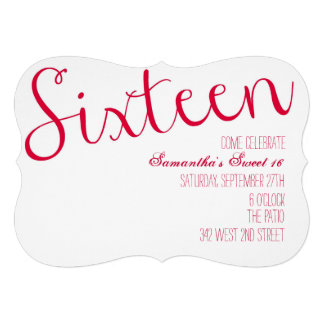 Sweet Sixteen Personalized Announcements