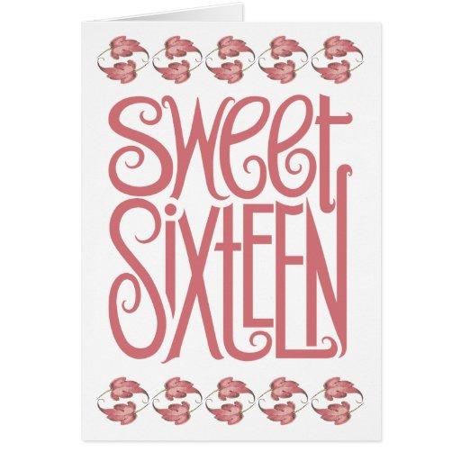 Sweet Sixteen Petals Birthday Card
