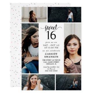 Sweet Sixteen Photo Collage Invitation