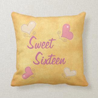 Sweet Sixteen Throw Pillows