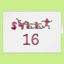 Sweet Sixteen Pink Card