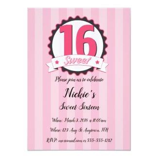Sweet Sixteen Pink Card