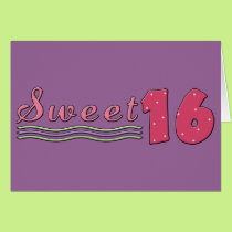 Sweet Sixteen (Pink- customizable) Card